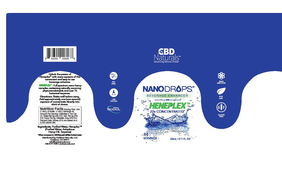 NanoDrops CBD Beverage Enhancer Label